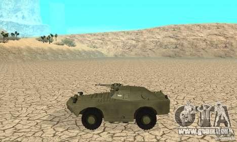 BRDM-1 Skin 1 für GTA San Andreas zurück linke Ansicht
