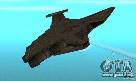 Republic Attack Cruiser Venator class v3 pour GTA San Andreas vue de droite