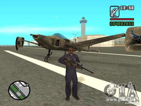 Future Army Jet pour GTA San Andreas laissé vue