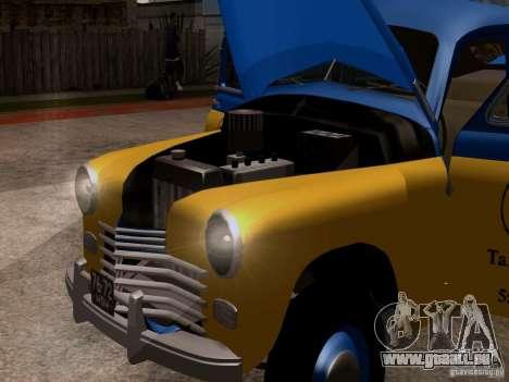GAZ M20 Pobeda Taxi pour GTA San Andreas vue arrière