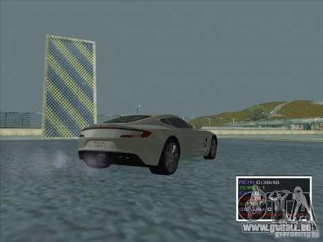 Aston Martin One 77 2011 pour GTA San Andreas sur la vue arrière gauche