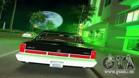 Lincoln Town Car 1997 pour une vue GTA Vice City de la droite