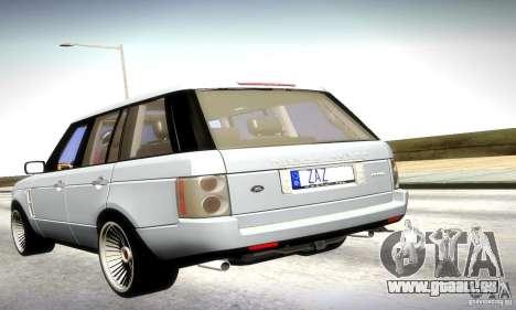 Range Rover Supercharged pour GTA San Andreas laissé vue