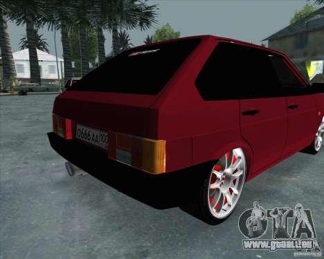 VAZ 2109 Drift für GTA San Andreas Rückansicht