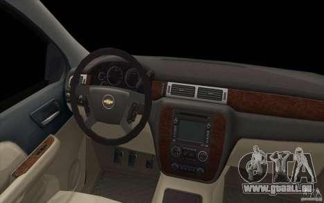 Chevrolet Suburban pour GTA San Andreas vue de dessus