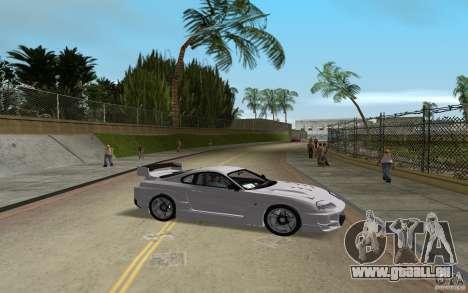 Toyota Supra Chargespeed pour GTA Vice City sur la vue arrière gauche