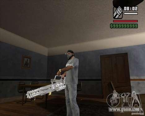 Chrom-Minigun für GTA San Andreas zweiten Screenshot