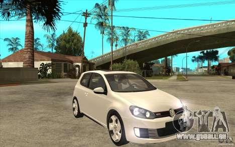 VW Golf 6 GTI für GTA San Andreas Rückansicht