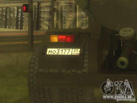 Remorque ciment TC-12 pour GTA San Andreas vue arrière