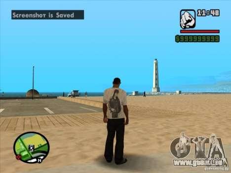 T-Shirt films pour GTA San Andreas quatrième écran