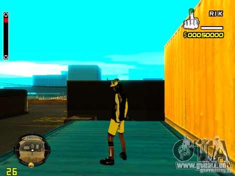 Peau bum v3 pour GTA San Andreas troisième écran