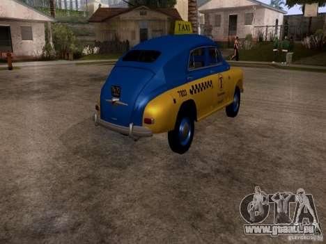 GAZ M20 Pobeda Taxi für GTA San Andreas zurück linke Ansicht