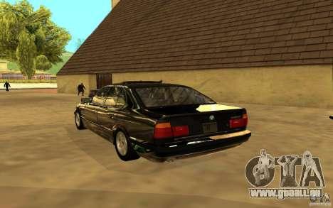 BMW 525 (E34) für GTA San Andreas Rückansicht