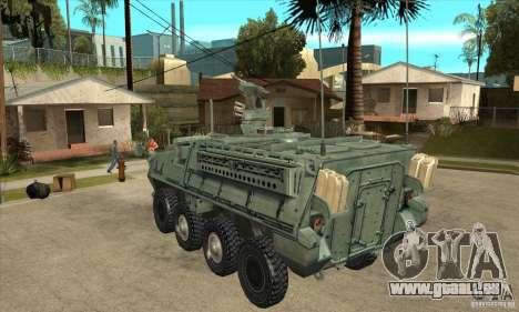 Stryker pour GTA San Andreas sur la vue arrière gauche