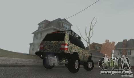 Toyota Land Cruiser 100 Off Road pour GTA San Andreas sur la vue arrière gauche