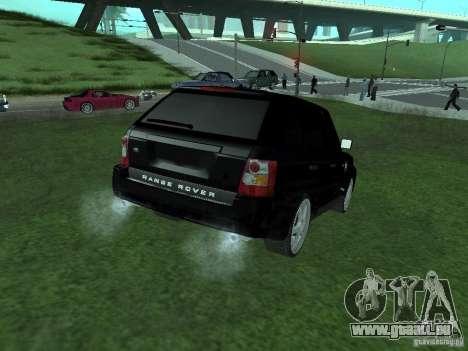 Land Rover Range Rover Sport pour GTA San Andreas laissé vue