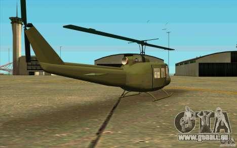 UH-1D Slick pour GTA San Andreas vue de droite
