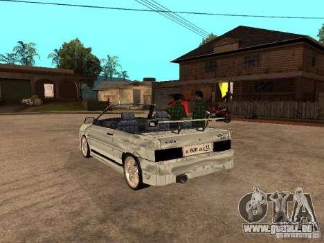 VAZ 2108 Cabriolet für GTA San Andreas zurück linke Ansicht
