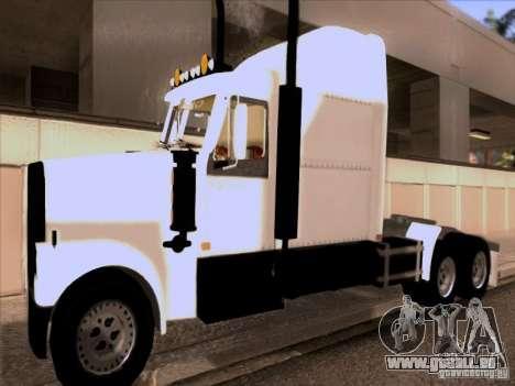 Western Star 4900EX skin 1 pour GTA San Andreas laissé vue