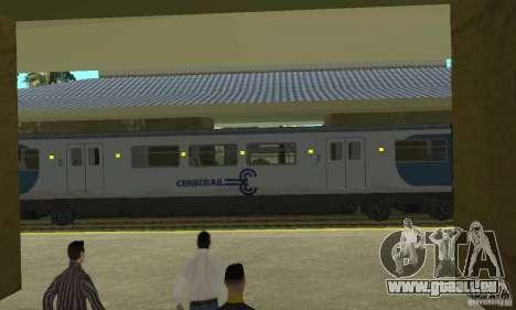 Cerberail Train für GTA San Andreas zurück linke Ansicht