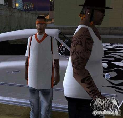 Bandes de remplacement, tatouages, vêtements, et pour GTA San Andreas onzième écran