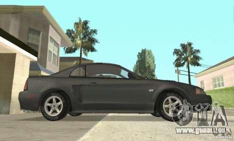 Ford Mustang GT 1999 (3.8 L 190 hp V6) pour GTA San Andreas sur la vue arrière gauche