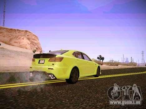 Lexus I SF pour GTA San Andreas sur la vue arrière gauche