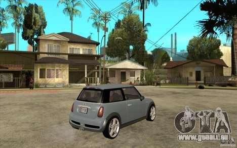 Mini Cooper - Stock für GTA San Andreas rechten Ansicht