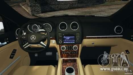 Mercedes-Benz ML63 (AMG) 2009 pour GTA 4 Vue arrière