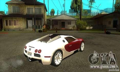 Bugatti Veyron Grand Sport für GTA San Andreas rechten Ansicht