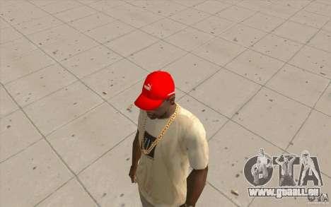 PUMA Cap hellrot für GTA San Andreas