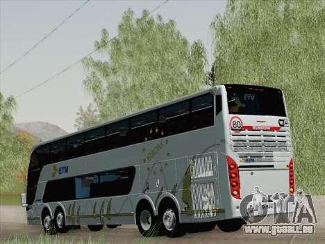Busscar Panoramico DD 8x2 pour GTA San Andreas vue de droite