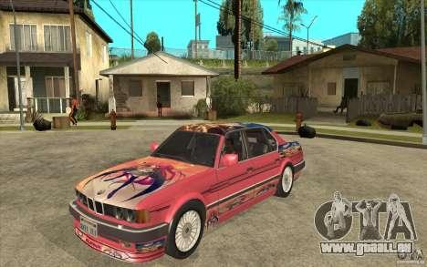 BMW E32 7-er Alpina B12 pour GTA San Andreas laissé vue
