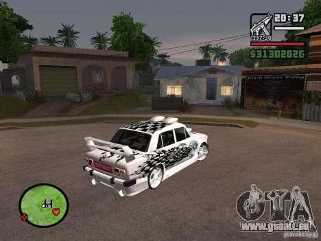 Tuning de voiture Vaz 2101 pour GTA San Andreas laissé vue