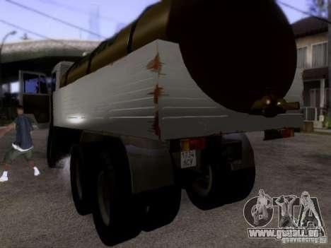 KAMAZ 53212 Milch tanker für GTA San Andreas zurück linke Ansicht