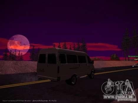 Gazelle 32213 Business v1.0 pour GTA San Andreas sur la vue arrière gauche