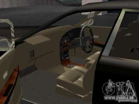 Nissan President JS pour GTA San Andreas vue intérieure