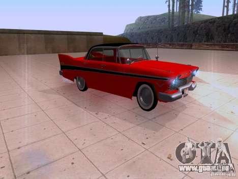 Plymouth Belvedere Sport Sedan 1957 für GTA San Andreas zurück linke Ansicht