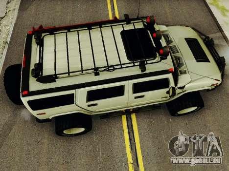 Hummer H2 Monster 4x4 pour GTA San Andreas vue de droite