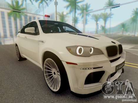 BMW X6 Hamann pour GTA San Andreas vue arrière
