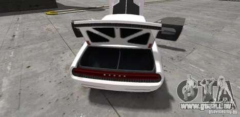 Dodge Challenger 2006 pour GTA 4 est une vue de l'intérieur