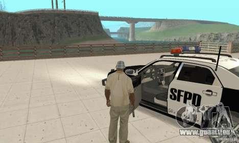 Chrysler 300C Police v2.0 pour GTA San Andreas vue arrière