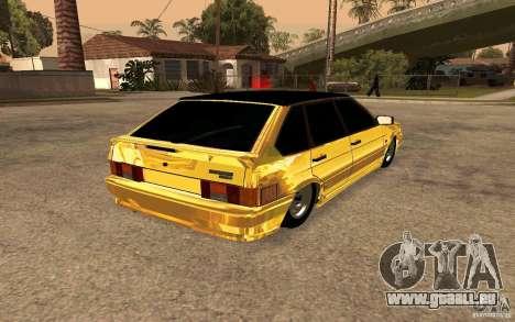 ВАЗ 2114-GOLD für GTA San Andreas zurück linke Ansicht