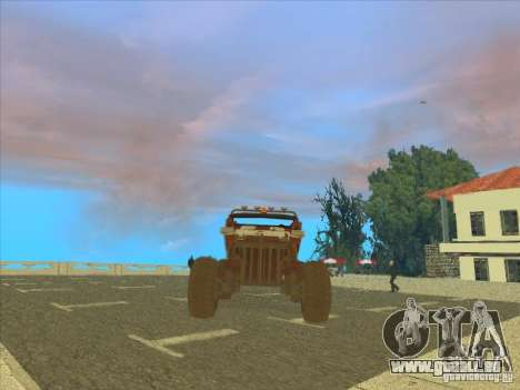 Jeep from Red Faction Guerrilla pour GTA San Andreas vue arrière