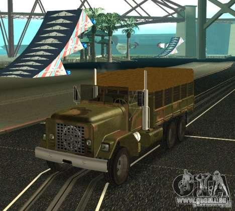 Sand Barracks HD pour GTA San Andreas sur la vue arrière gauche