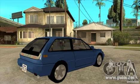 Volvo 480 Turbo für GTA San Andreas rechten Ansicht