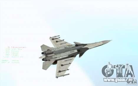 Le Su-37 Terminator pour GTA San Andreas vue de côté