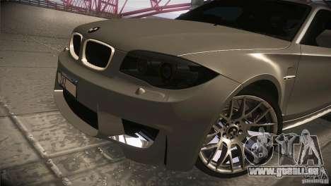 BMW 1M E82 Coupe 2011 V1.0 pour GTA San Andreas vue de côté