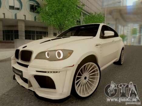 BMW X6 Hamann pour GTA San Andreas sur la vue arrière gauche