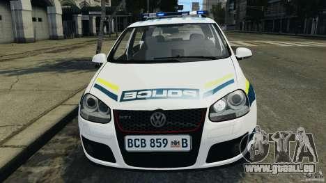 Volkswagen Golf 5 GTI South African Police [ELS] für GTA 4 obere Ansicht